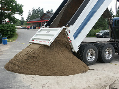 Topsoil and compost commercial fertilizer dirt delivery for Topsoil delivery