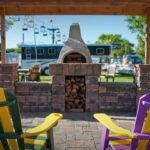 patio pavers outdoor fireplace